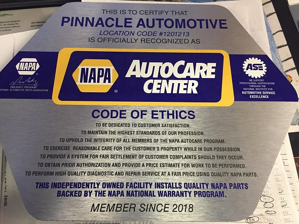 NAPA Code of Ethics